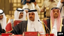 FILE: Emir of Qatar Sheikh Tamim bin Hamad al-Thani attends a Gulf Cooperation Council (GCC) summit in December.