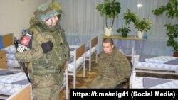 Солдат Рамиль Шамсутдинов после задержания
