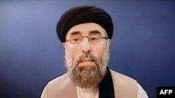 Hezb-e Islami leader Gulbuddin Hekmatyar is seen on a video grab.
