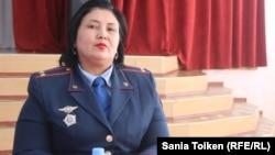 Эльмира Қасанова, Ақтау қалалық ювеналдық полиция бөлімшесінің аға полицейі. Ақтау, 11 қазан 2018 жыл.