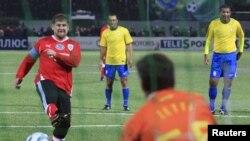 Ramzan Kadırov futbol matçında
