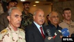 الفريق بابكر زيباري مع وزير الداخلية لحكومة اقليم كوردستان كريم سنجاري