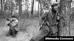 Ілюстрацыйнае фота. Савецкія партызаны, 1943 год