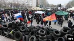 Барикади біля Донецької ОДА, 11 квітня 2014 року