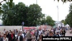 Акция молчаливого протеста в Могилеве