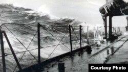 Девятибалльный шторм в водах Северной Атлантики. Июнь 1961 года.