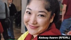 Актриса Маржан Козыбаева. Алматы, 16 января 2013 года.