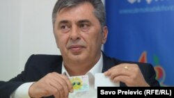 Милутин Джуканович, лідер проросійського опозиційного «Демократичного фронту» і однофамілець прем'єра Мила Джукановича, архівне фото