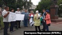 Митинг переселенцев в Иркутске