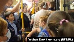 Севастопольцы в общественном транспорте, октябрь 2020 года