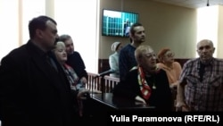 Сторонники Игоря Рудникова в суде