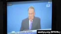 Президент Назарбаев обращается к народу Казахстана с ежегодным посланием. 17 января 2014 года.