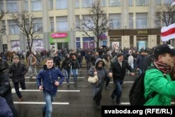 Belarus - Day of Freedom (Freedom Day) in Minsk, Detention of people at the center in Minsk, 25Mar2017