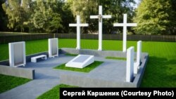 Проект памятника репрессированным в селе Таловка в Кузбассе