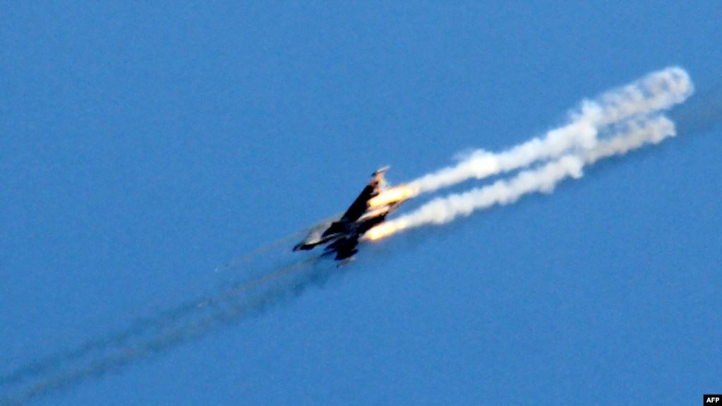 A Syrian army jet like the one shot down by the U.S. military last weekend