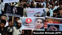 تظاهرات افغانها در ننگرهار علیه خشونتها در میانمار