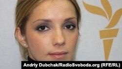 Євгенія Карр (Тимошенко) у студії Радіо Свобода
