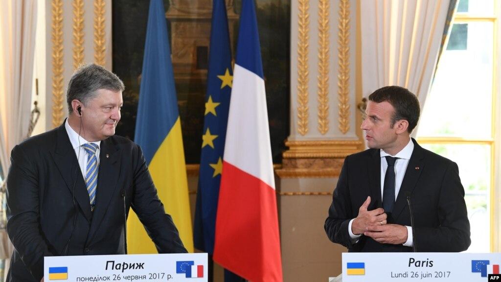 Macron  Poroshenko shpresojnë të zgjidhin konfliktin në Ukrainë