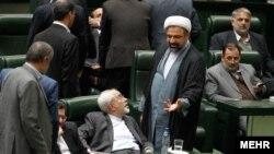 Iran -- tehran - javad zarf in parliament