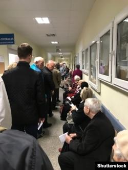 Чарга ў дзяржаўнай паліклініцы ва Ўроцлаве