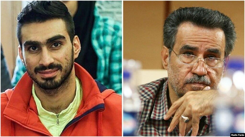 فرزاد ذوالقدری (چپ) و پدرش غلامحسین ذوالقدر