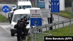 Hrvatska granična policija, arhivska fotografija