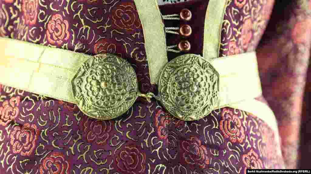 Фрагмент национального крымскотатарского костюма