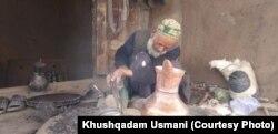 Abdul Qudoos a coppersmith in Badakhashan