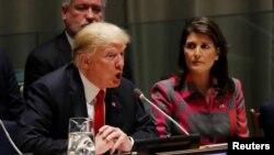 Дональд Трамп на сессии Генассамблеи ООН