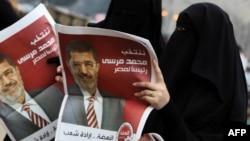 Сторонницы Мурси празднуют его избрание президентом Египта, Каир, 18 июня 2012
