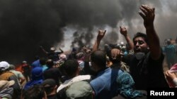 Акция протеста на границе сектора Газа и Израиля, 14 мая 2018 года