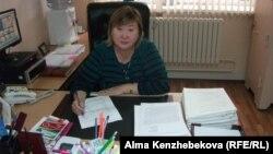 Директор центра адаптации несовершеннолетних города Алматы Раушан Курмашева. Алматы, 16 ноября 2014 года.
