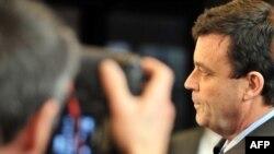 Ministrul de finanțe al Irlandei, Brian Lenihan la Bruxelles