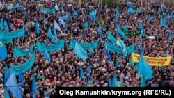 Крымские татары 18 мая 2014 года в Ак-Мечети
