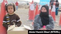 نازحة سورية في مخيم كوركوسك في اربيل