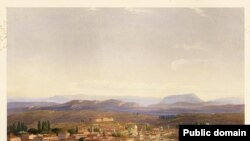 Carlo Bossoli. Aqmescit manzarası