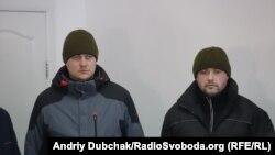 Двоє звільнених із Росії українських прикордонників – Богдан Марцоня та Ігор Дзюбак, 2 березня 2018 року