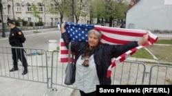 Акция в поддержку встпления Черногории в НАТО. Апрель 2017 года
