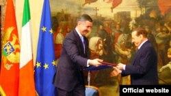 Milo Đukanović i Silvio Berluskoni u februaru 2010.