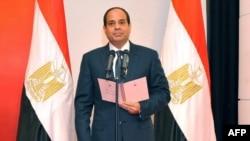 Եգիպտոսի նախագահ Աբդել Սիսին իր երդմնակալության արարողության ժամանակ, Կահիրե, 8-ը հունիսի, 2014թ․