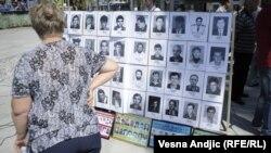 Obeležavanje Međunarodnog dana nestalih, Beograd, 30. avgust 2012.