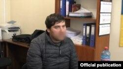 Задержанный Тимур Дзортов, съемка Совета безопасности Украины (архивное фото)
