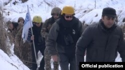 Armenia - OSCE observers escorted by Armenian army officers monitor the ceasefire regime in Tavush province bordering Azerbaijan, 16Feb, 2017
