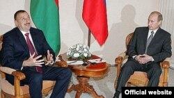 Ильхам Алиев (слева) и Владимир Путин, Ростов-на-Дону, 30 июня 2007