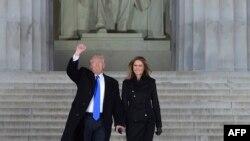 АКШнын президенти Дональд Трамп жана жубайы Мелания Трамп.