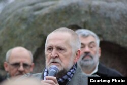 Юлий Рыбаков на акции памяти жертв политических репрессий