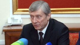 Armenia - CSTO Secretary General Nikolay Bordyuzha at a news conference in Yerevan, 29Jan2013.