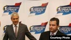 Boris Tadić (levo) lider DS i Ivica Dačić (desno) lider SPS