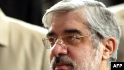 """""""We have to avoid wasting resources for short-term interests and unworthy political aims,"""" says Mir Hossein Musavi."""
