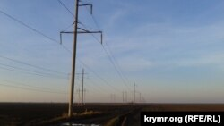 Украіна, Херсонская вобласць: лініі ЛЭП, якія вядуць у Крым